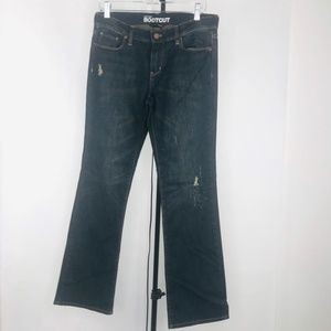 NY&CO Low Rise Boot Cut Distressed Jeans NWT